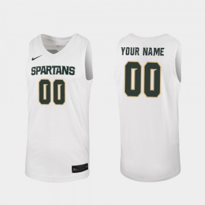 #00 Michigan State Spartans Replica For Men's 2019-20 College Basketball Customized Jersey - White