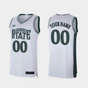 #00 Michigan State Spartans Retro Limited College Basketball Mens Customized Jersey - White
