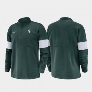 Michigan State Spartans For Men Half-Zip Performance 2019 Coaches Sideline Jacket - Green