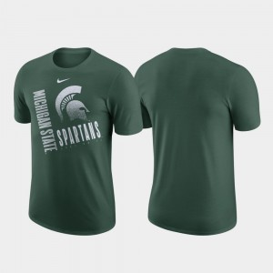 Michigan State Spartans Men Performance Cotton Just Do It T-Shirt - Green