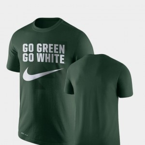Michigan State Spartans For Men Performance Legend Franchise T-Shirt - Green