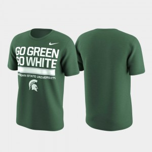 Michigan State Spartans Local Verbiage Performance Men T-Shirt - Green