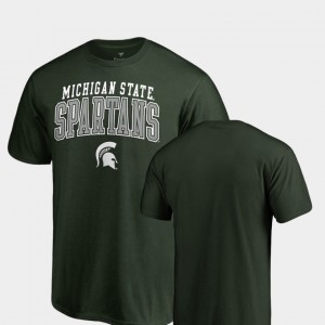 Michigan State Spartans For Men's Square Up T-Shirt - Green