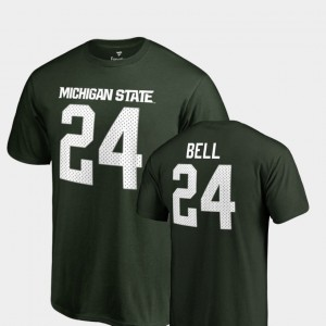 #24 Le'Veon Bell Michigan State Spartans Mens Name & Number College Legends T-Shirt - Green