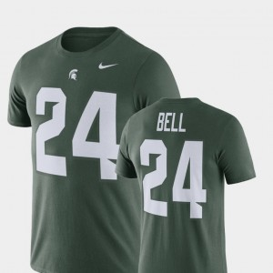 #24 Le'Veon Bell Michigan State Spartans For Men's Football Performance T-Shirt - Green