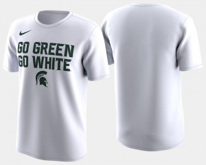 Michigan State Spartans 2018 March Madness Bench Legend Performance Basketball Tournament Men's T-Shirt - White