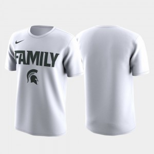 Michigan State Spartans Family on Court Men March Madness Legend Basketball Performance T-Shirt - White