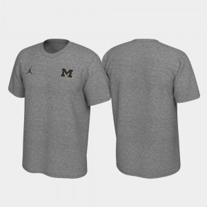 Michigan Wolverines Legend Left Chest Logo For Men's T-Shirt - Heathered Gray