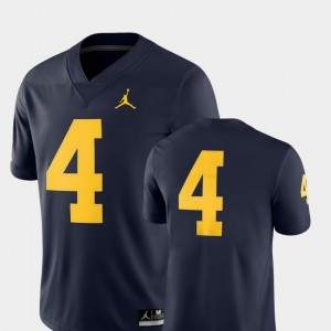 #4 Michigan Wolverines College Football 2018 Game Mens Jersey - Navy