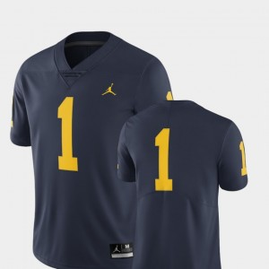 #1 Michigan Wolverines Men's Limited College Football Jersey - Navy