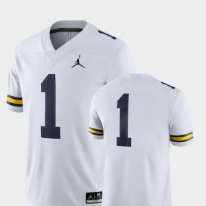 #1 Michigan Wolverines 2018 Game College Football Mens Jersey - White
