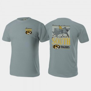 Missouri Tigers Pride of the South Mens Comfort Colors T-Shirt - Gray