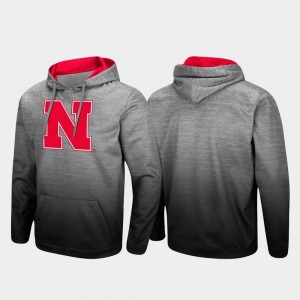 Nebraska Cornhuskers Men's Pullover Sitwell Sublimated Hoodie - Heathered Gray