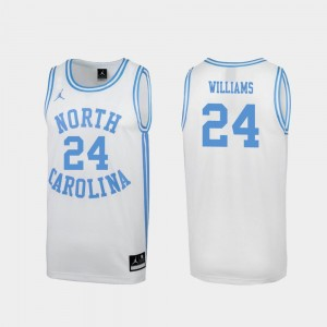 #24 Kenny Williams North Carolina Tar Heels March Madness For Men Special College Basketball Jersey - White
