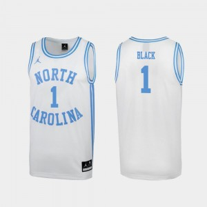#1 Leaky Black North Carolina Tar Heels Special College Basketball March Madness Men's Jersey - White