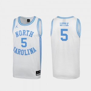 #5 Nassir Little North Carolina Tar Heels March Madness Men Special College Basketball Jersey - White