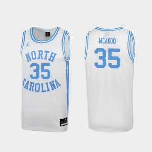 #35 Ryan McAdoo North Carolina Tar Heels Men's Special College Basketball March Madness Jersey - White