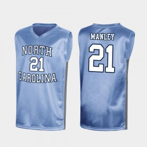 #21 Sterling Manley North Carolina Tar Heels Men's March Madness Special College Basketball Jersey - Royal