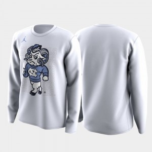 North Carolina Tar Heels For Men's March Madness Legend Basketball Long Sleeve Family on Court T-Shirt - White