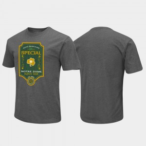 Notre Dame Fighting Irish St. Patrick's Day Colosseum Special For Men's T-Shirt - Charcoal