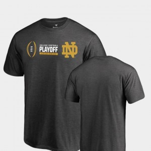Notre Dame Fighting Irish For Men's 2018 College Football Playoff Bound Cadence Big & Tall T-Shirt - Heather Gray