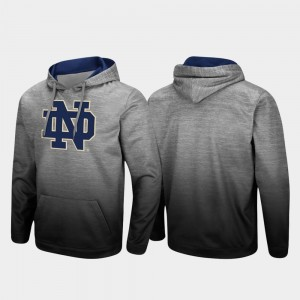 Notre Dame Fighting Irish For Men Pullover Sitwell Sublimated Hoodie - Heathered Gray