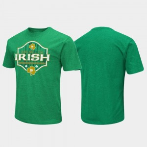 Notre Dame Fighting Irish Colosseum Kiss Me St. Patrick's Day For Men's T-Shirt - Kelly Green