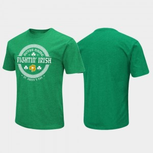 Notre Dame Fighting Irish St. Patrick's Day Colosseum Lucky For Men's T-Shirt - Kelly Green