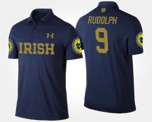 #9 Kyle Rudolph Notre Dame Fighting Irish For Men's Polo - Navy