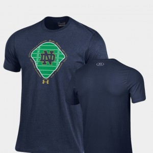 Notre Dame Fighting Irish For Men's Field Charged Cotton 2018 Shamrock Series T-Shirt - Navy