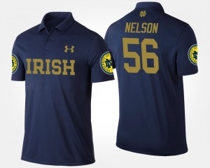 #56 Quenton Nelson Notre Dame Fighting Irish For Men Polo - Navy
