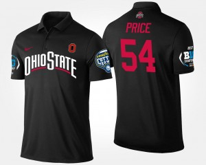 #54 Billy Price Ohio State Buckeyes Bowl Game Mens Big Ten Conference Cotton Bowl Polo - Black