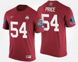 #54 Billy Price Ohio State Buckeyes Bowl Game For Men's Big Ten Conference Cotton Bowl T-Shirt - Scarlet