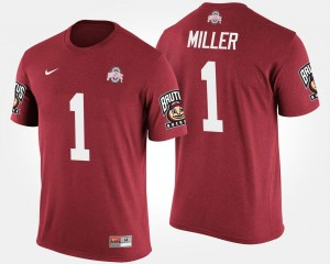 #5 Braxton Miller Ohio State Buckeyes For Men's Bowl Game Big Ten Conference Cotton Bowl T-Shirt - Scarlet