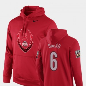 #6 Brian Snead Ohio State Buckeyes For Men's Icon Circuit Football Performance Hoodie - Scarlet