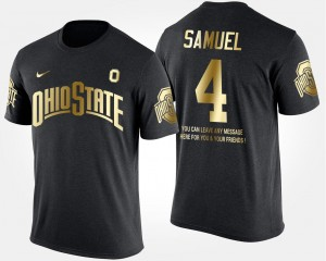 #4 Curtis Samuel Ohio State Buckeyes Short Sleeve With Message Gold Limited For Men T-Shirt - Black