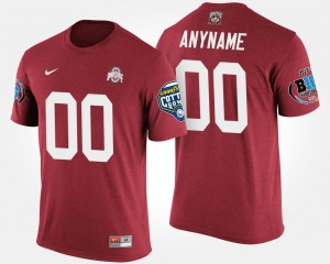 #00 Ohio State Buckeyes Bowl Game Big Ten Conference Cotton Bowl Mens Customized T-Shirts - Scarlet