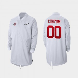 #00 Ohio State Buckeyes For Men's Full-Zip Sideline 2019 College Football Playoff Bound Customized Jackets - White