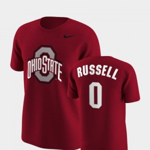 #0 D'Angelo Russell Ohio State Buckeyes Future Stars Men's Replica T-Shirt - Scarlet