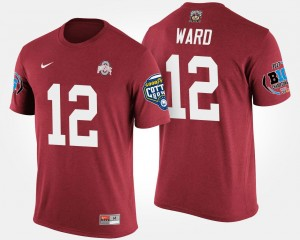 #12 Denzel Ward Ohio State Buckeyes Bowl Game For Men Big Ten Conference Cotton Bowl T-Shirt - Scarlet