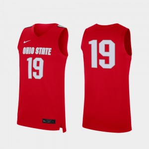 #19 Ohio State Buckeyes College Basketball Replica For Men Jersey - Scarlet