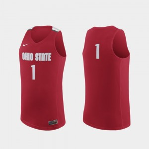 #1 Ohio State Buckeyes Replica College Basketball For Men Jersey - Scarlet