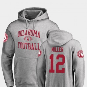 #12 A.D. Miller Oklahoma Sooners For Men's College Football Neutral Zone Hoodie - Ash