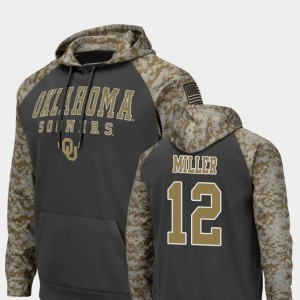 #12 A.D. Miller Oklahoma Sooners United We Stand Men's Colosseum Football Hoodie - Charcoal