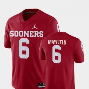 #6 Baker Mayfield Oklahoma Sooners College Football Game Mens Jersey - Crimson