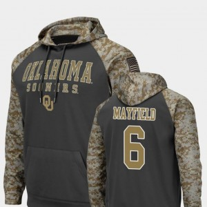 #6 Baker Mayfield Oklahoma Sooners United We Stand Men's Colosseum Football Hoodie - Charcoal