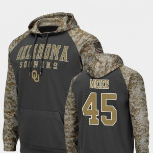 #45 Carson Meier Oklahoma Sooners United We Stand Colosseum Football For Men's Hoodie - Charcoal