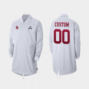 #00 Oklahoma Sooners Full-Zip Sideline 2019 College Football Playoff Bound For Men's Custom Jackets - White