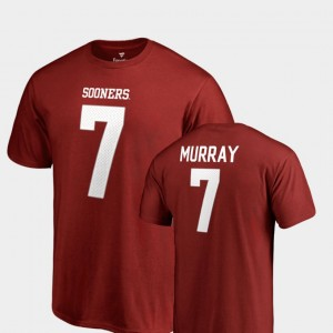 #7 DeMarco Murray Oklahoma Sooners For Men's Name & Number College Legends T-Shirt - Cardinal