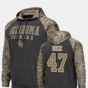 #47 Gabe Brkic Oklahoma Sooners Men Colosseum Football United We Stand Hoodie - Charcoal